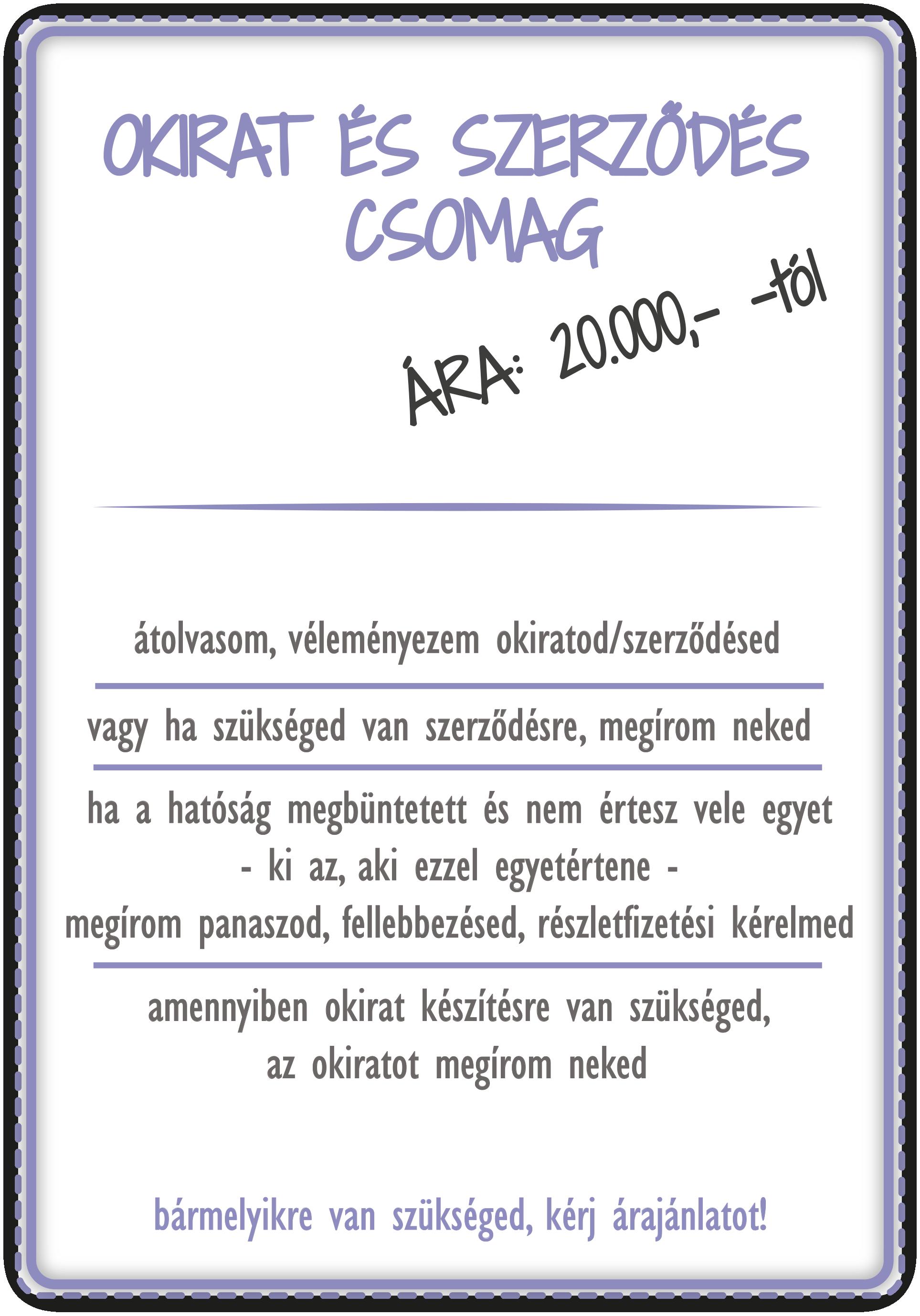 okirat és szerződés csomag